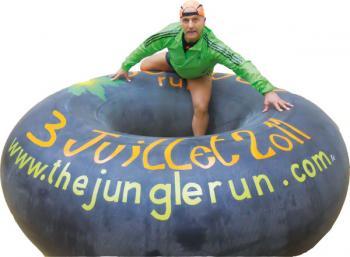 Obstacle de la course The Jungle Run